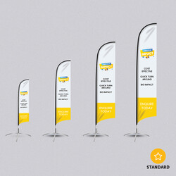 Extra Large Feather Banner Flags - Printed One Side