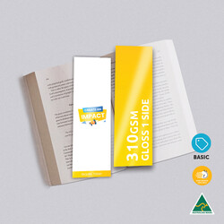310gsm Artboard Gloss Cello One Side Bookmarks