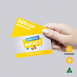 360gsm Artboard Uncoated Business Cards